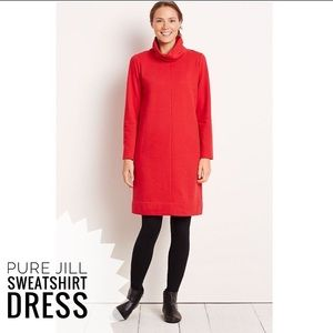 JJill Pure Red Sweatshirt dress PM